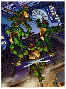 "Image of ""Teenage Mutant Ninja Turtles"" - 18"" x 24"" screen print"