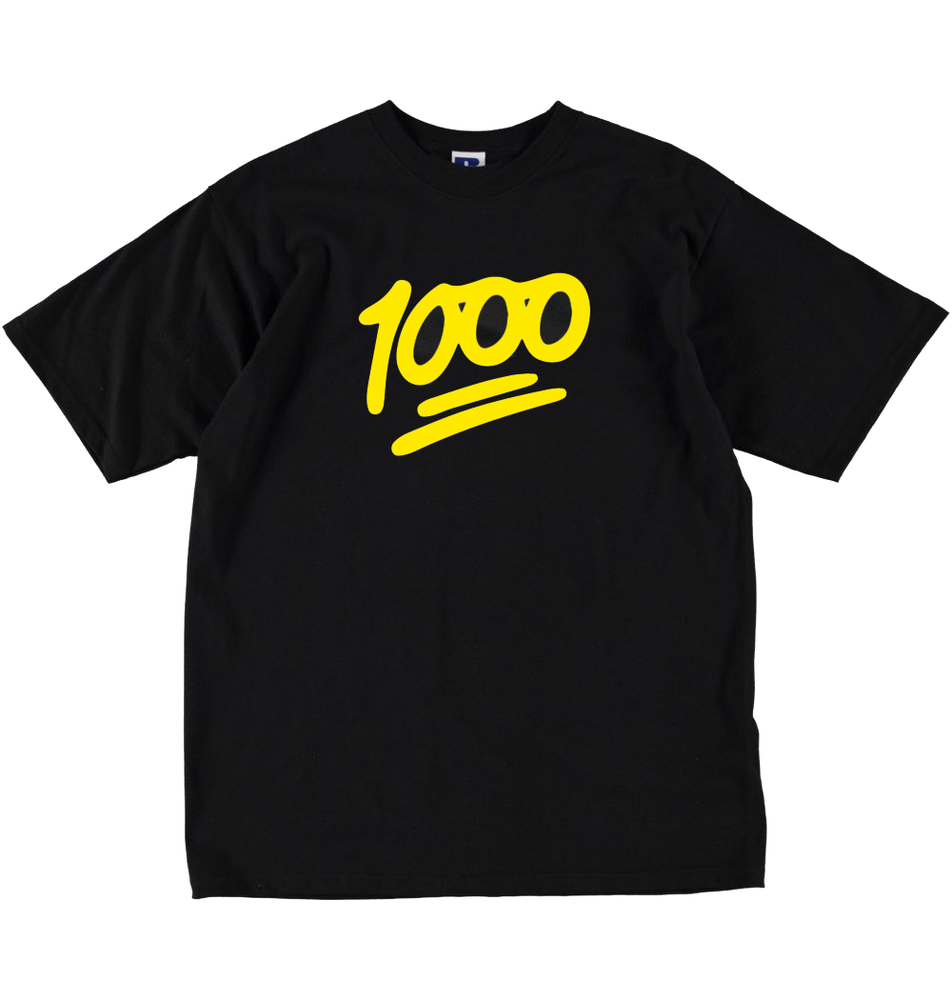 Image of 1000 Official T-shirt Black/Yellow