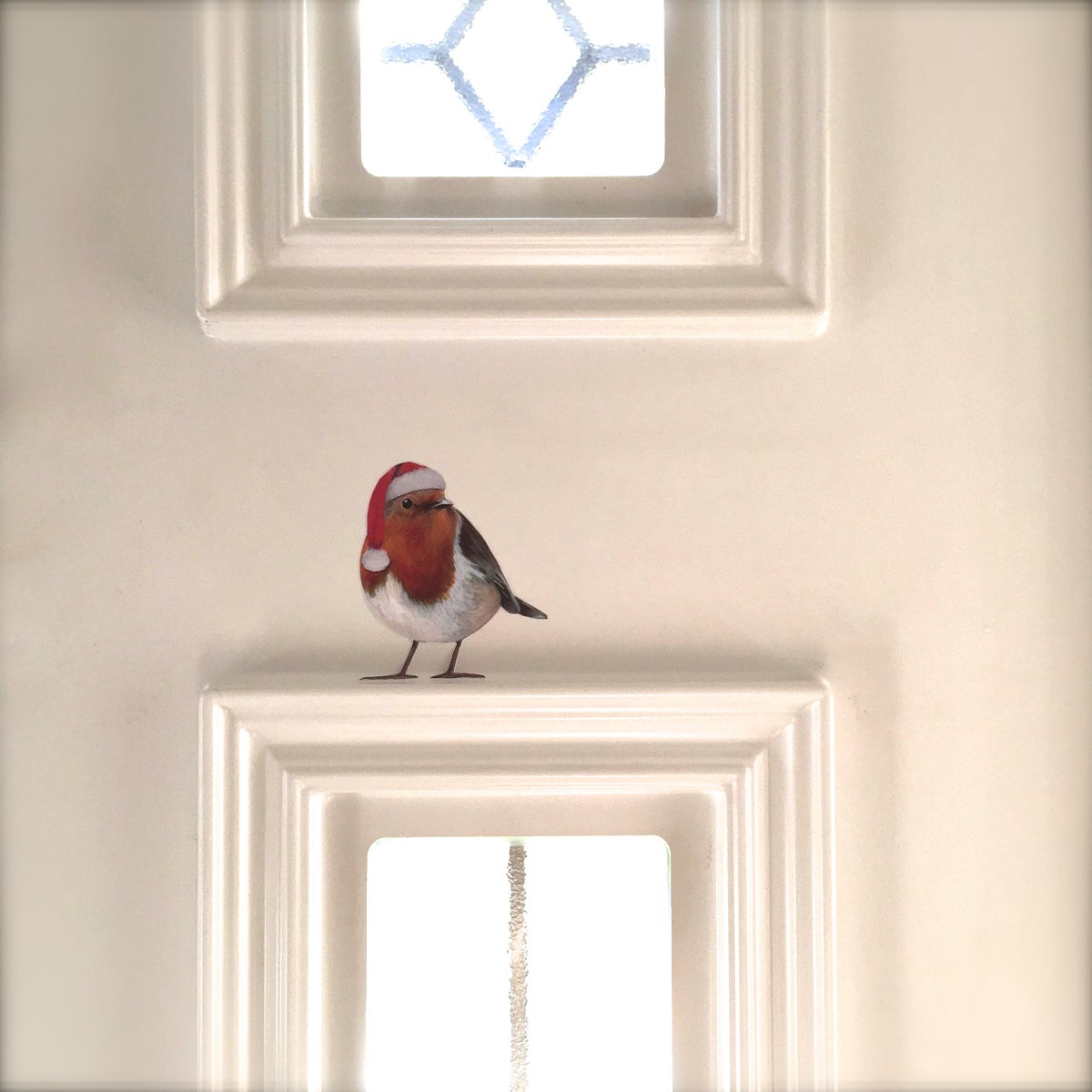 Image of Santa Bobbi Robin  ~ Removable Wall Sticker Decal