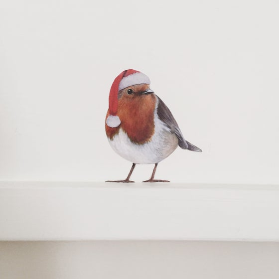 Image of Santa Bobbi Robin  ~ Removable Wall Decal