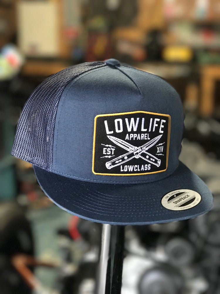 Image of Lowlife Navy LOWCLASS Knives Trucker