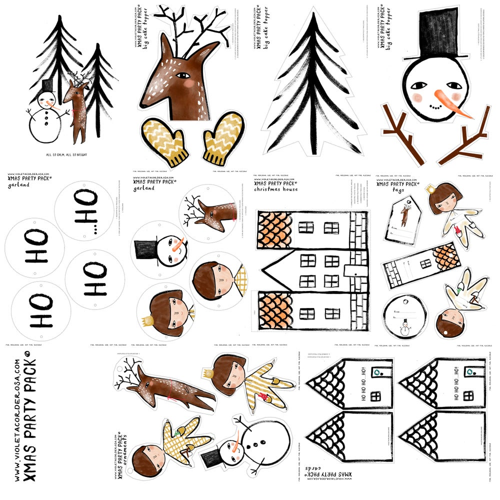 Image of CHRISTMAS PARTY PACK | PRINTABLE