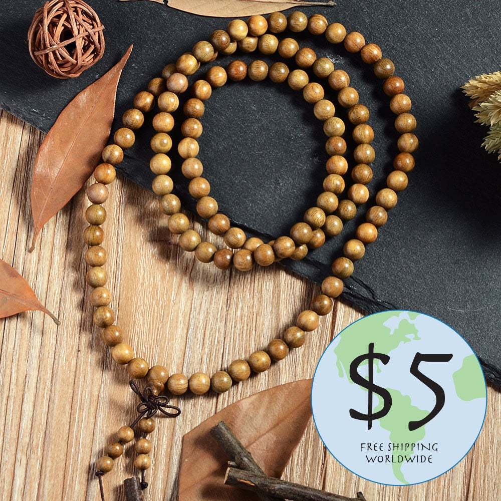 Image of 108 Sandal Wood Mala Beads
