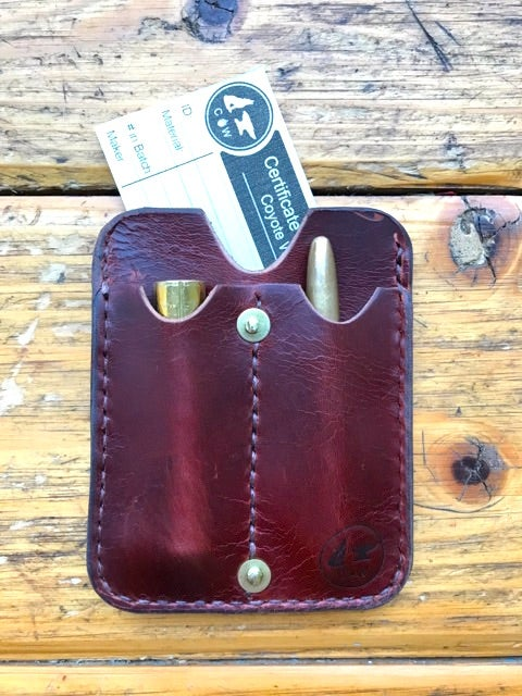 Image of EDC Pocket Slip Wallet, Horween Horse Butt Leather