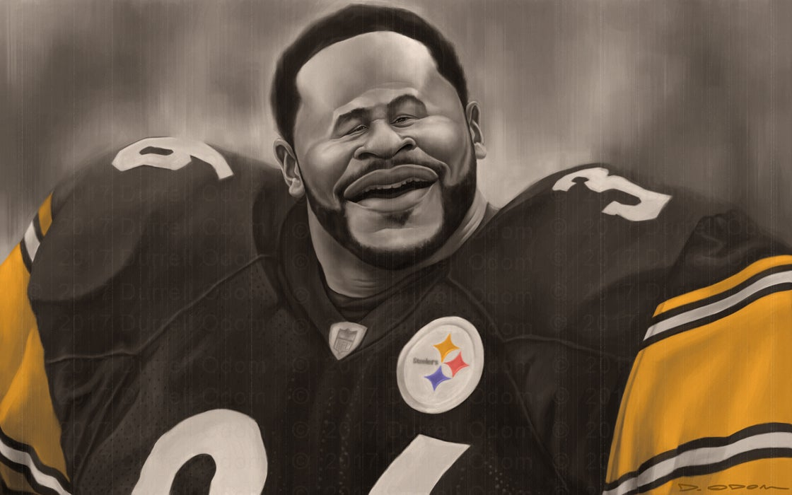 Jerome Bettis signed print