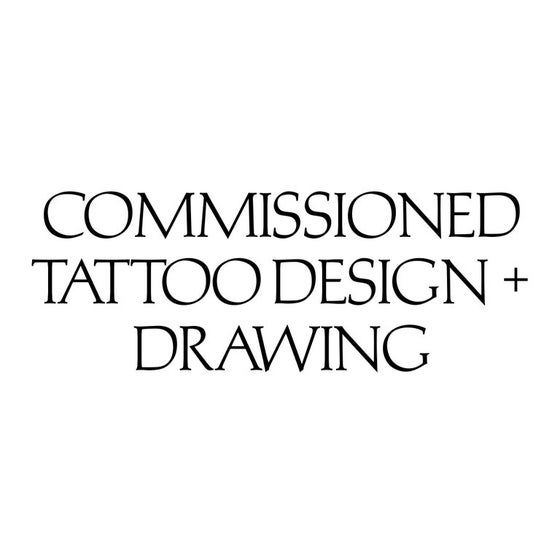Image of Commissioned Tattoo Design + Drawing March 2018