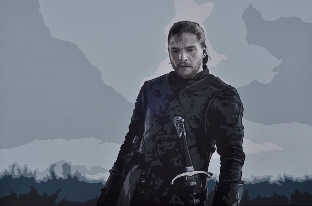 Image of 'JON SNOW' (3x2ft canvas print)