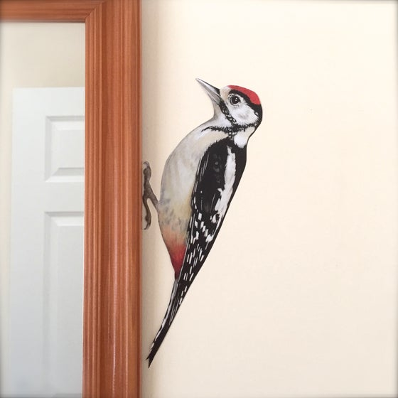 Image of Walter Woodpecker ~ Removable Wall Decal