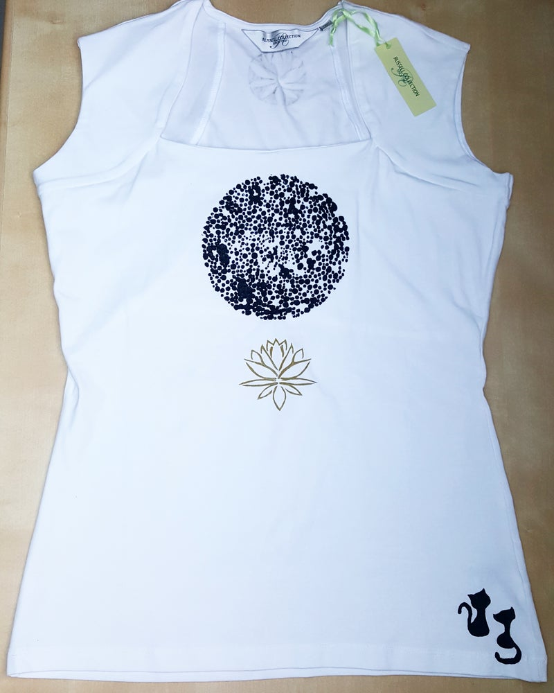 Image of Hand-painted top: Lotus Flower