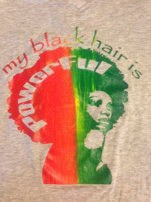 "Image of ""my black hair is Powerful..."" tee"