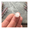 Ice Clouds - Sterling Silver Necklace with Quartz Crystal