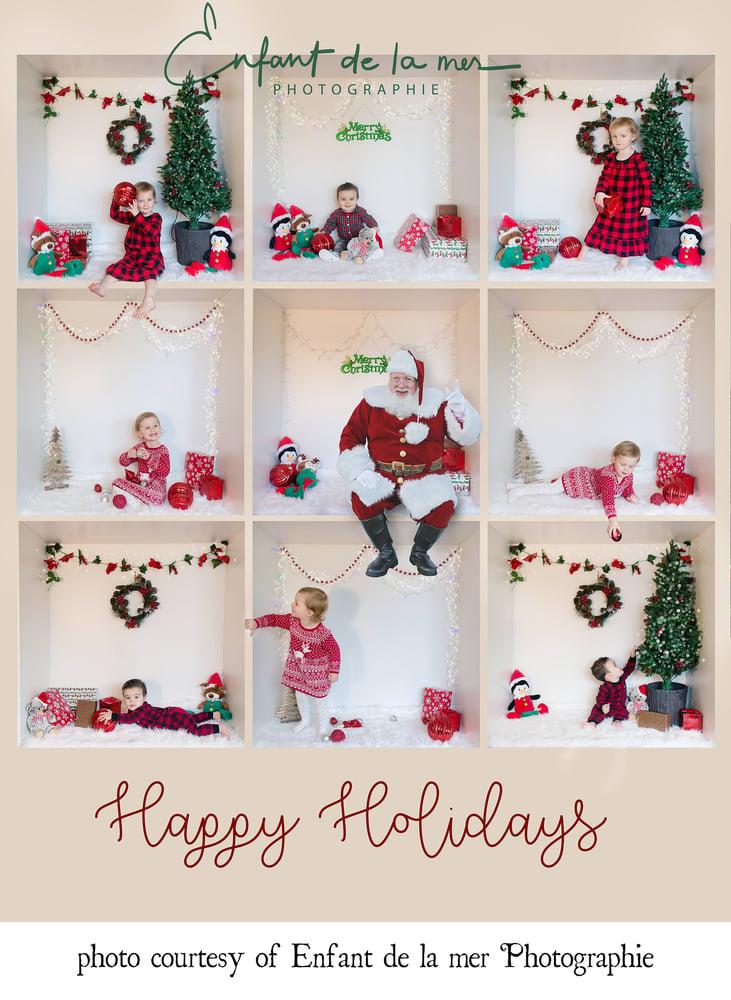 Image of Santa Sleighs & Sitting Santas Set