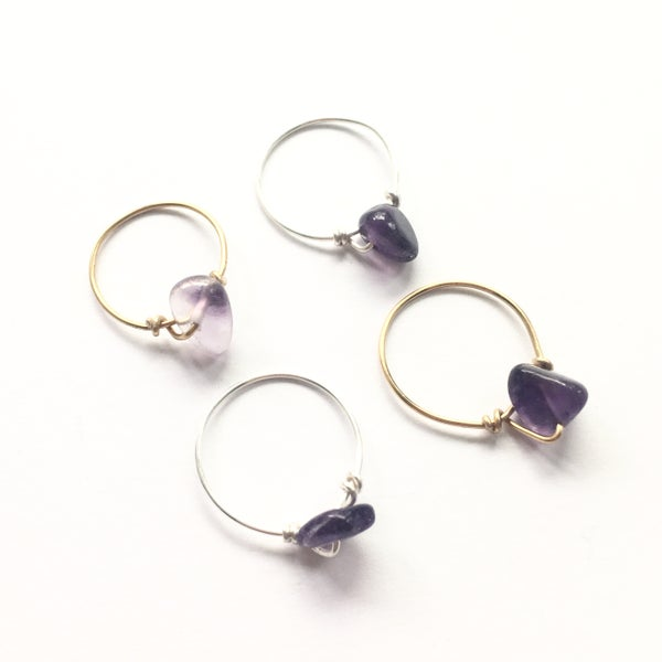 Image of Simple Amethyst Ring