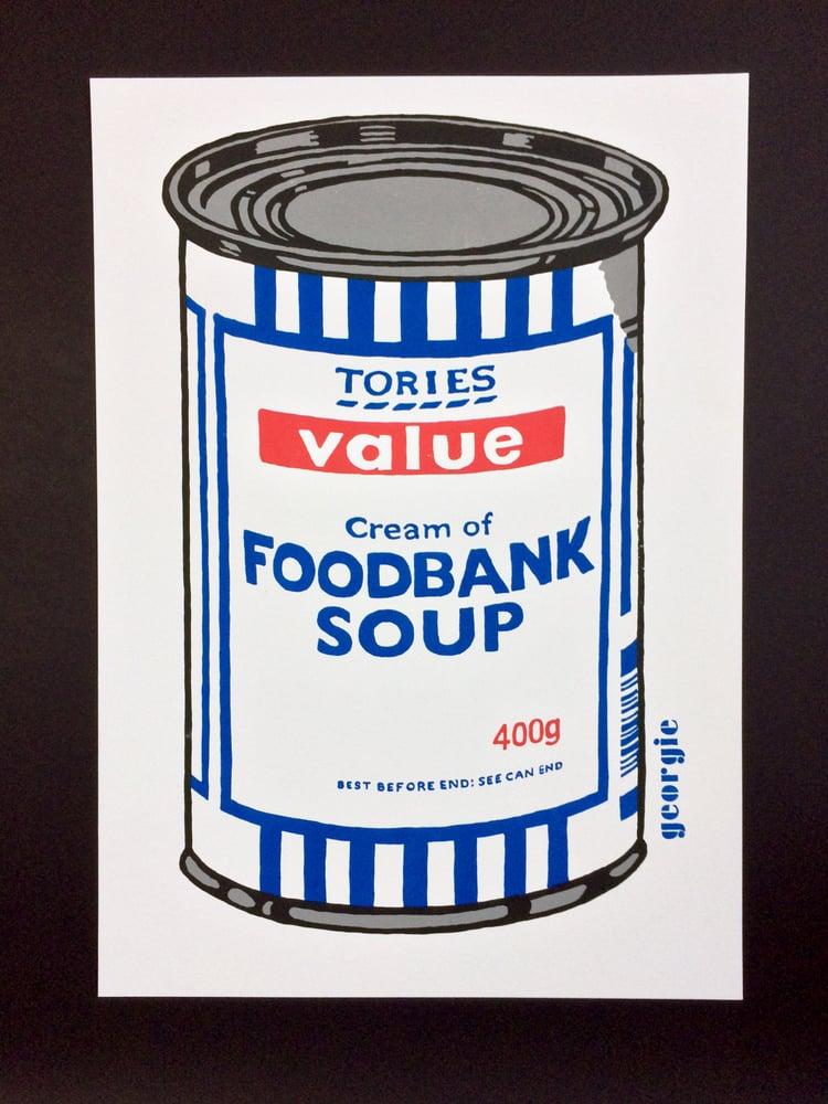 Image of Foodbank Soup. Screen print.