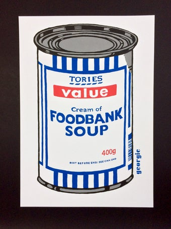 Image of Foodbank Soup. Screen print.