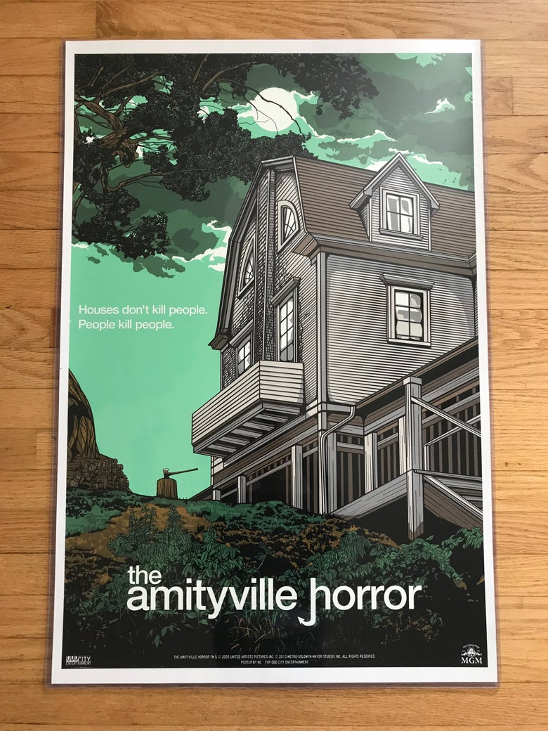 Image of 2013 New Flesh AMIITYVILLE HORROR Odd City Entertainment Limited Edition Numbered Poster