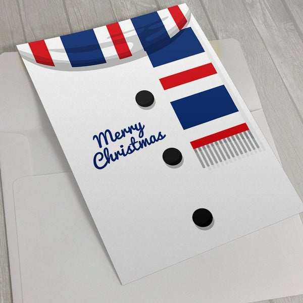 Image of Christmas Card - Snowman Rangers Scarf