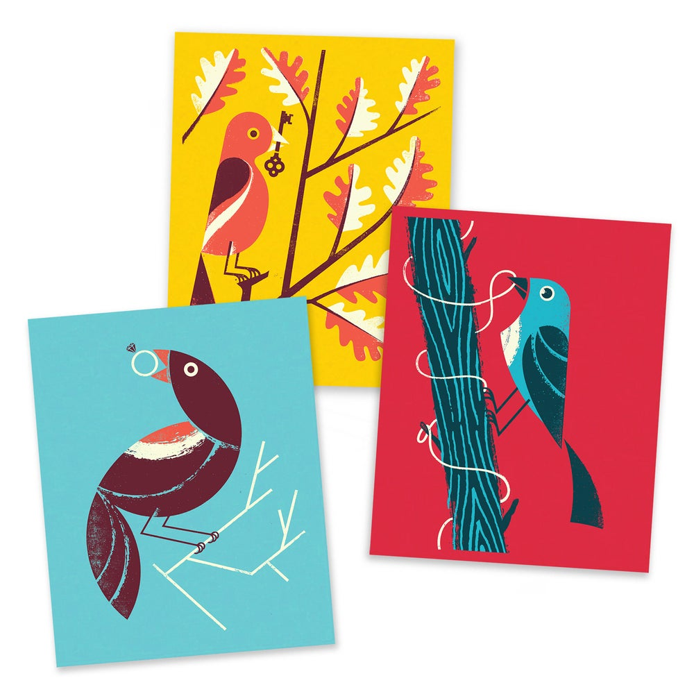 Image of Bird of Play art print set