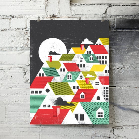 Image of Rooftops art print