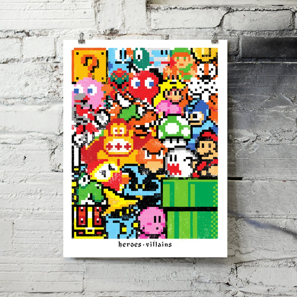 Image of Heroes & Villains art print