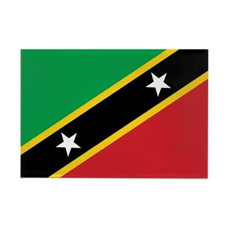 Image of SAINT KITTS & NEVIS FMN Poppy/Flag Combo Medal (28mm x 15.5mm)