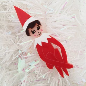 Image of Cheeky Elf Brooch - charity piece