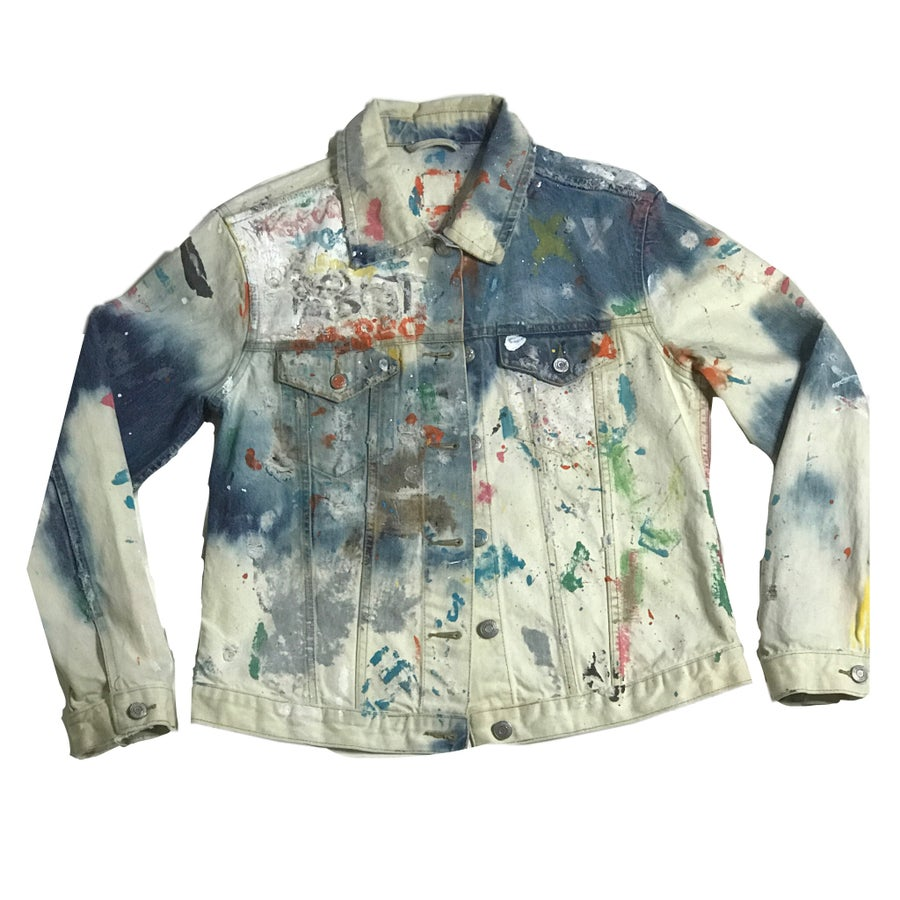 Image of HEAVY CORRODED DENIM JACKET