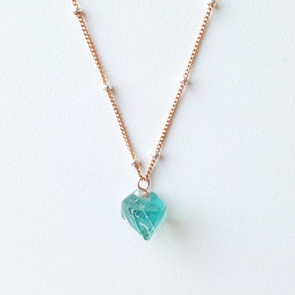 Image of Blue Fluorite on Rose Gold & Beads