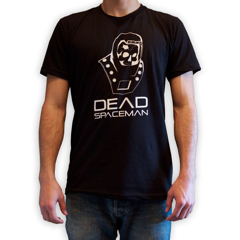 Image of Limited Retro DeadSpaceman Logo unisex t-shirt In Gray or Black