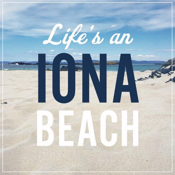 Image of Iona window sticker