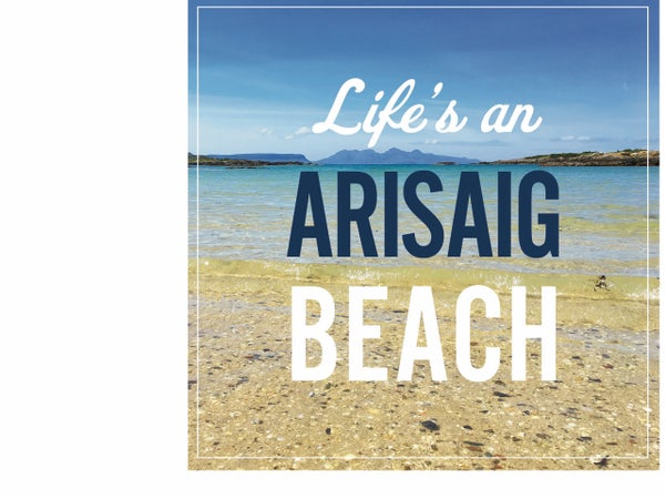 Image of Arisaig window sticker
