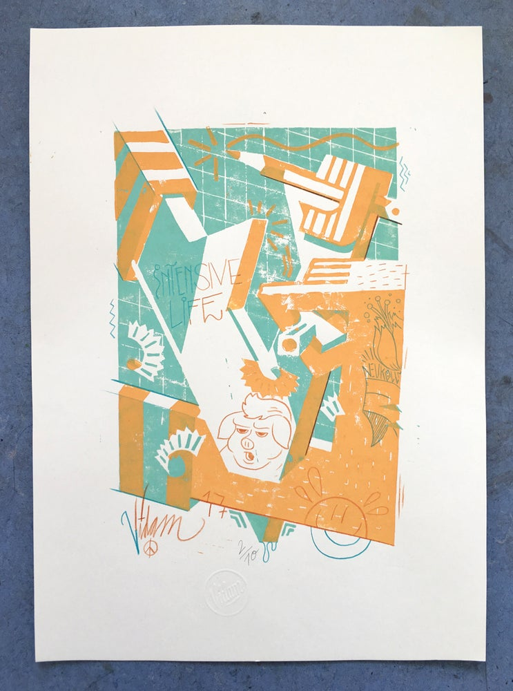 Image of So sharp so strong - Linocut