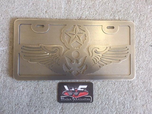 License Plate Us Air Force Chief Enlisted Aircrew Wings Winter Fab Online
