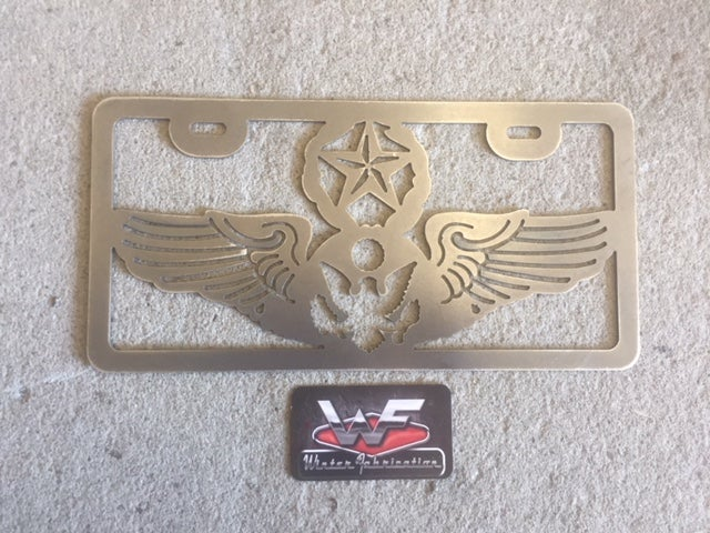 Image of License Plate - US Air Force Chief Enlisted Aircrew Wings