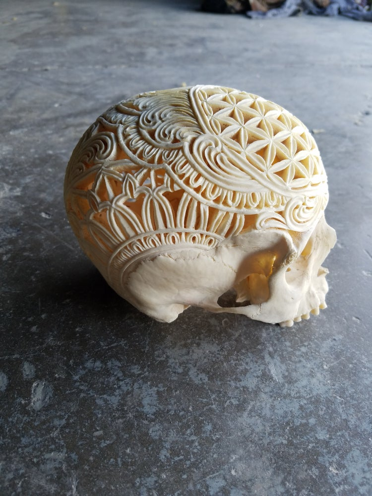 Image of Carved human skull