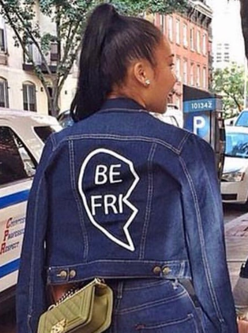 Image of 💔BESTFRIEND Denim Jacket (order includes 2 jackets)
