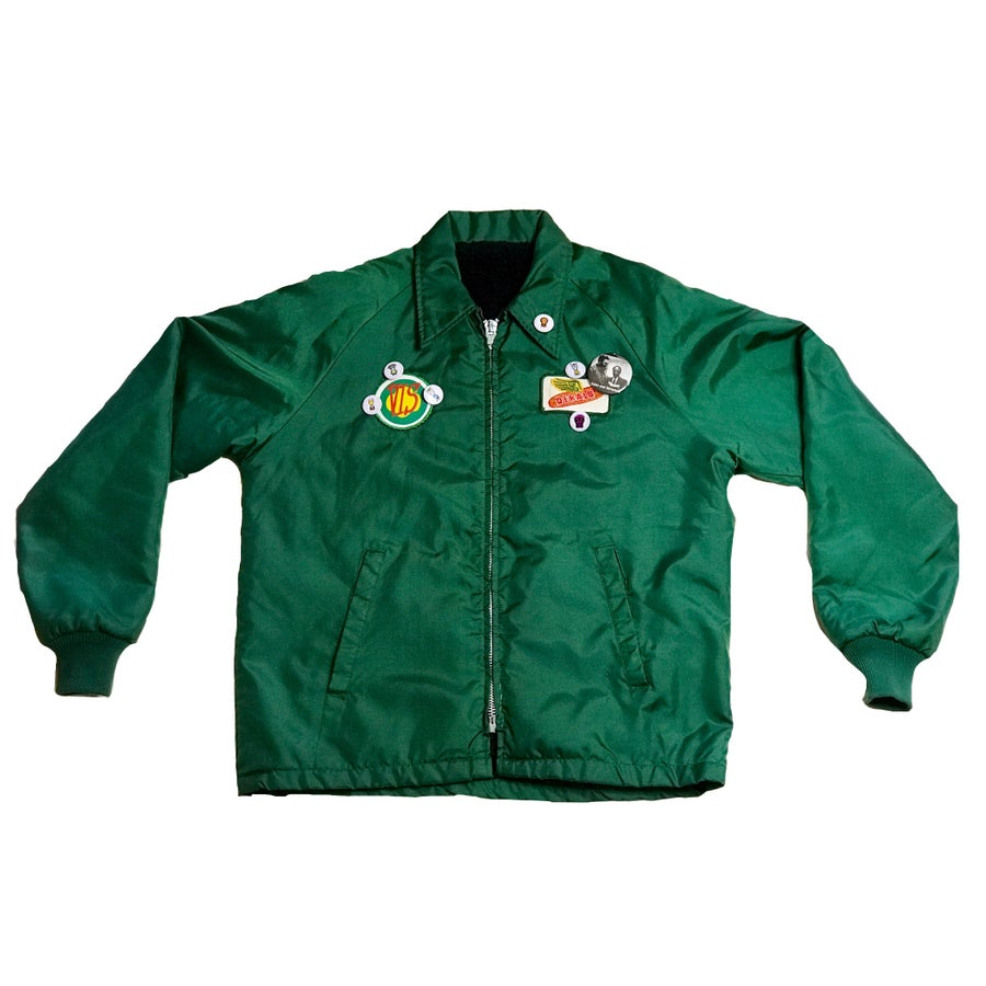 Image of GOOD SAMARITANS FLEECE LINED SATIN JACKET