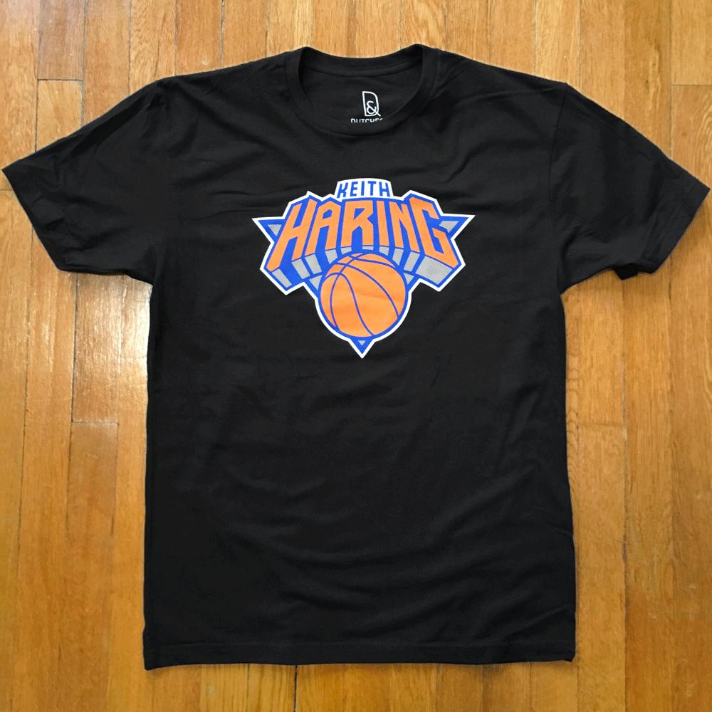 Image of Keith Haring x New York Knicks tribute shirt / NYC ART TEAMS
