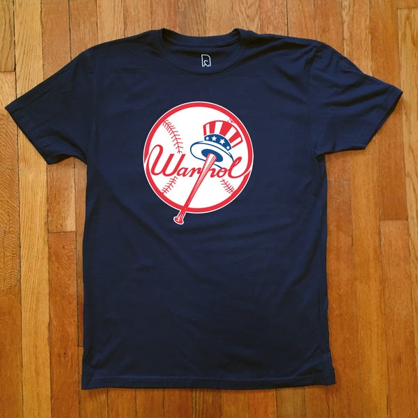 Image of Andy Warhol x New York Yankees tribute shirt / NYC ART TEAMS