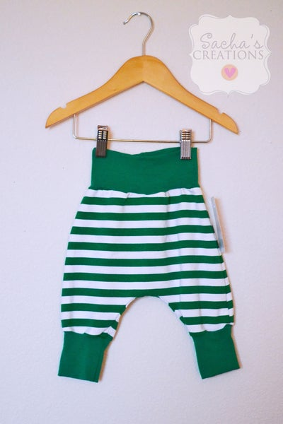 Image of Green Striped Harem Pants