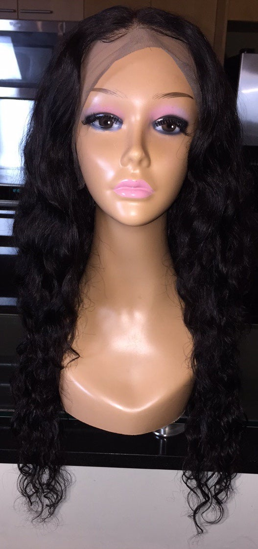 """Image of Cambodian Natural Wave 22"""" Custom Lace Frontal Wig!"""