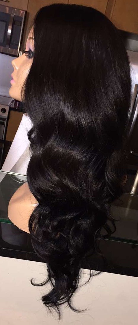"Image of Brazilian Body Wave 24"" Custom Lace Closure Wig"