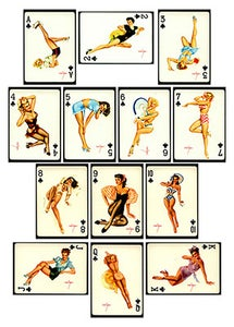 Image of PINUP CARDS - CLUBS