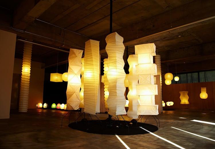 Image of Isamu Noguchi Light Sculpture AKARI 24N Standing lamp
