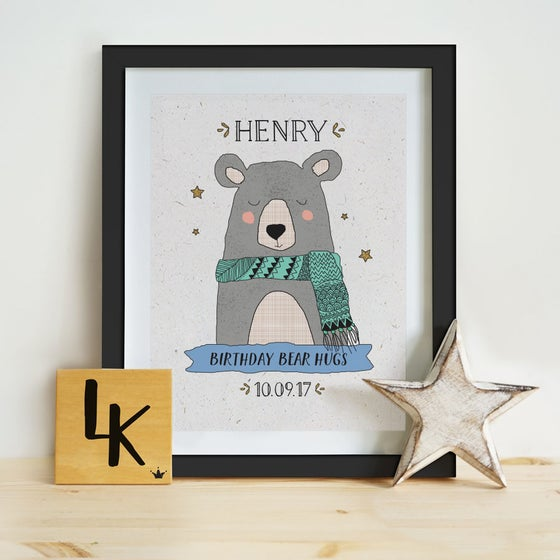 Image of Personalised Winter Animal Print