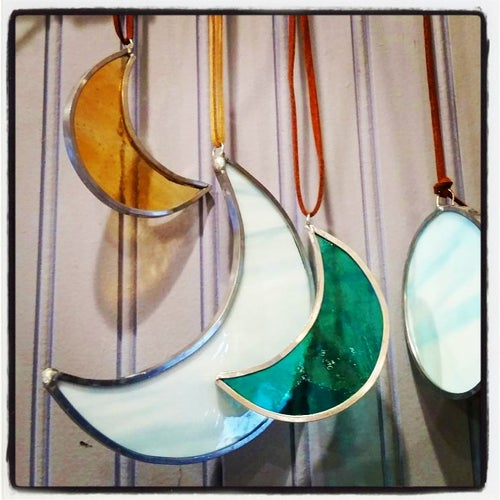 Image of *Large Cresent Moon-stained glass