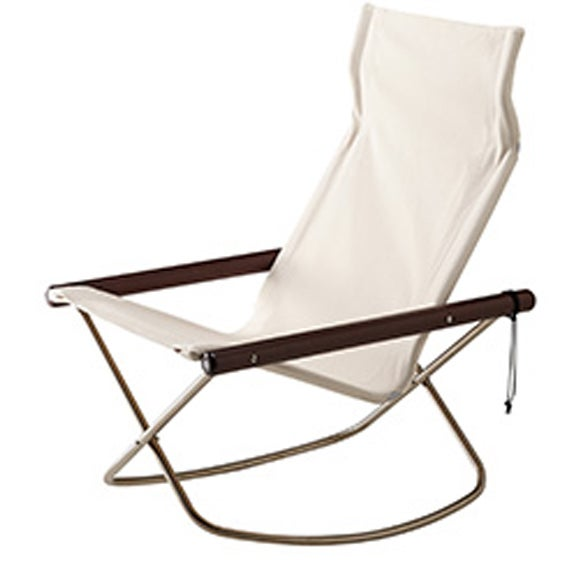 Image Of NY Folding Chair X Rocking   Takeshi Nii Nychair X   Brown ...