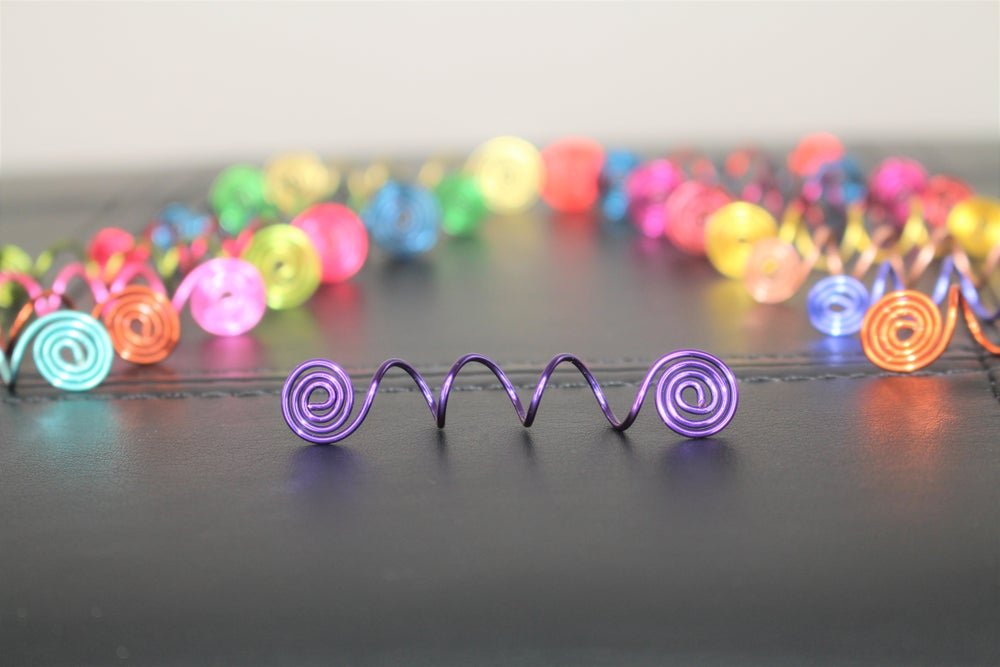 Image of (5)  or (10)  Assorted Swirl Hair Jewels