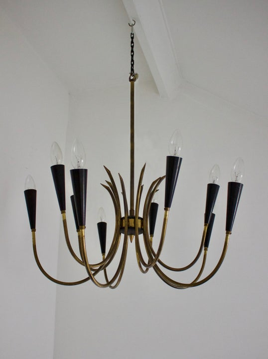 Image of Brass Chandelier, 1950s