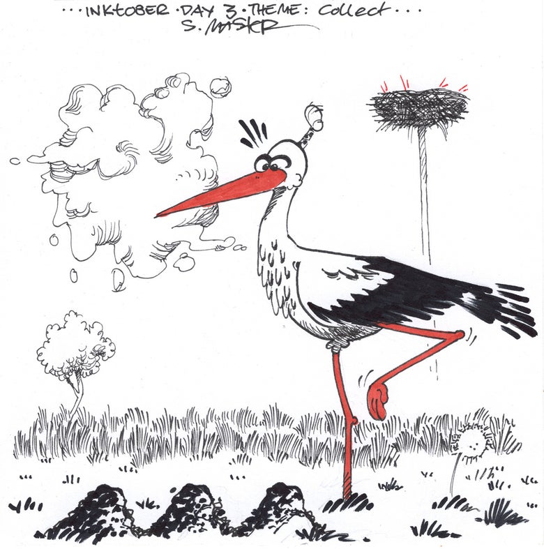 Image of Stork Postcard